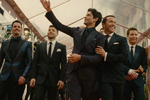 Photo of the five main characters of the Warner Brothers' series Entourage