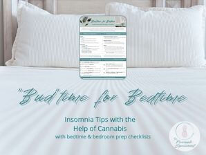 Budtime for Bedtime Featured Image insomnia tips with the help of cannabis with bedtime and bedroom prep checklists from the pineapple expressionist