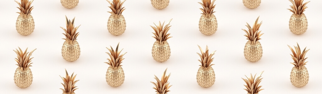 17 metallic golden pineapples evenly spaced for pineapple strains for pain management